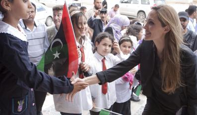 Angelina Jolie z wizytą w Libii