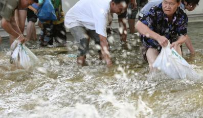 Walka z falą  powodziową w Bangkoku