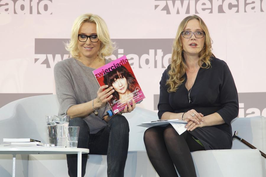 Agata Młynarska i Katarzyna Montgomery podczas finału akcji \
