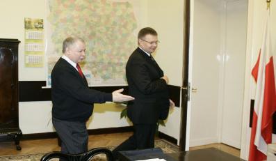 Jarosław Kaczyński i Janusz Kaczmarek