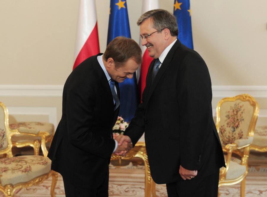 Premier Donald Tusk i prezydent Bronisław Komorowski