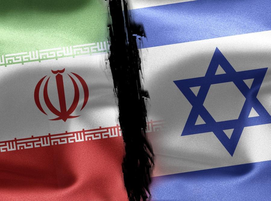 Flagi Iranu i Izraela
