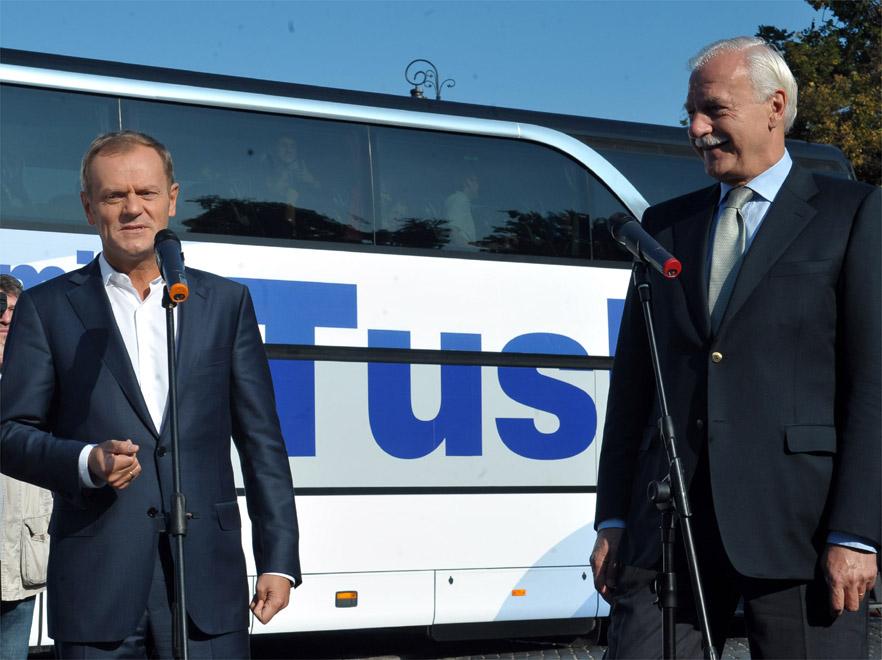 Donald Tusk i Andrzej Olechowski