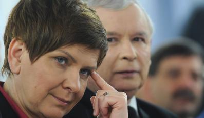 Beata Szydło i prezes PiS
