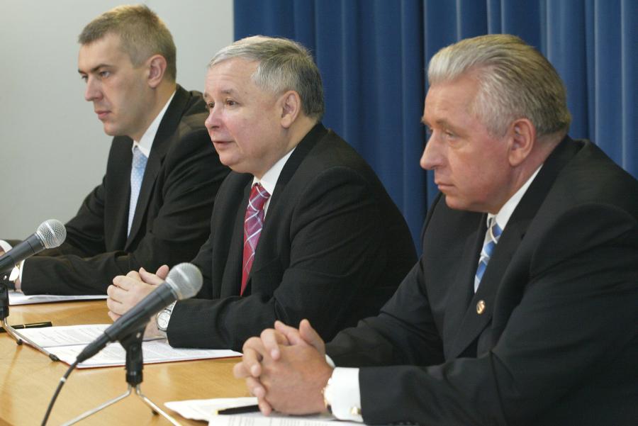 Roman Giertych, Jarosław Kaczyński i Andrzej Lepper