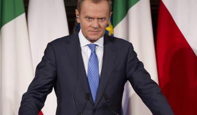 Premier Donald Tusk we Włoszech