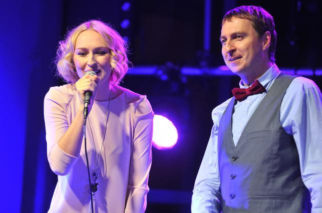 Anita Lipnicka i Arkadiusz Lipnicki podczas koncertu Voice Bandu