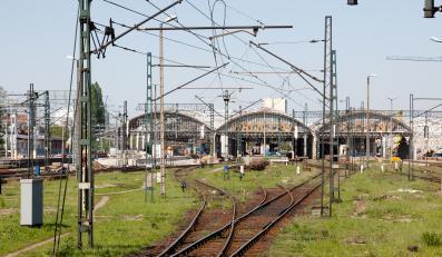 Wjazd na stację Wrocław Główny