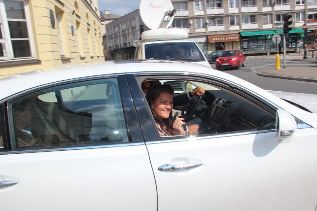 Agnieszka Radwańska i Lexus LS 600h