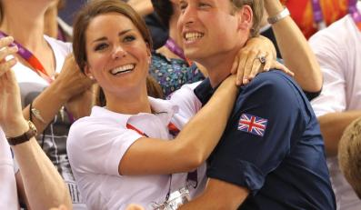 Igrzyska Olimpijskie Londyn 2012: księżna Catherine i książę William na trybunach