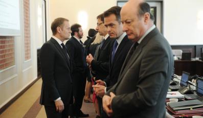 Donald Tusk, Sławomir Nowak i Jacek Rostowski