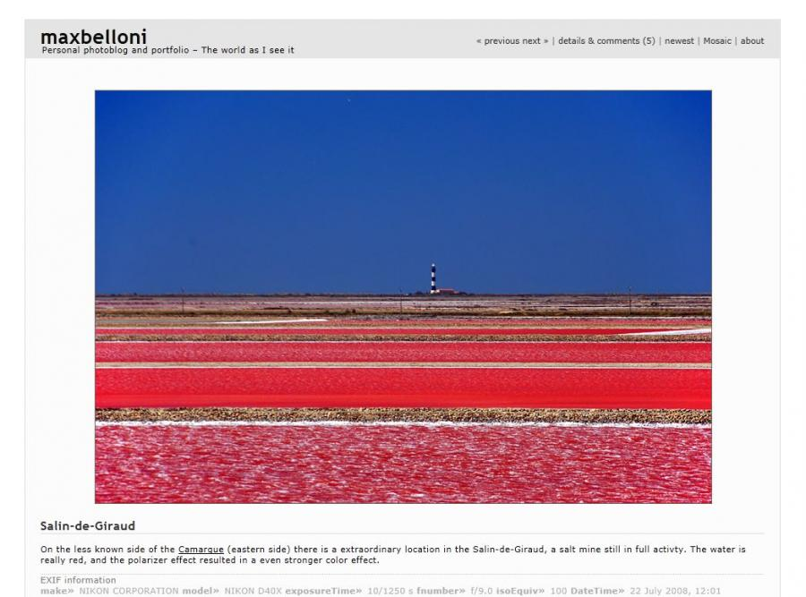Jezioro w Camargue na blogu: www.maxbelloni.com