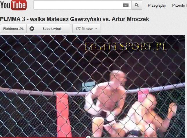 Walka Mateusza Gawrzyńskiego z Arturem Mroczkiem
