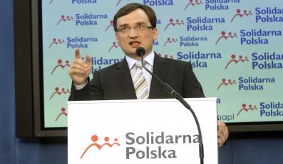 Zbigniew Ziobro na konferencji prasowej w Sejmie