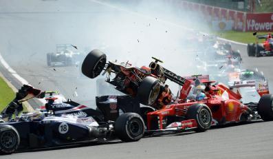Karambol podczas GP Belgii