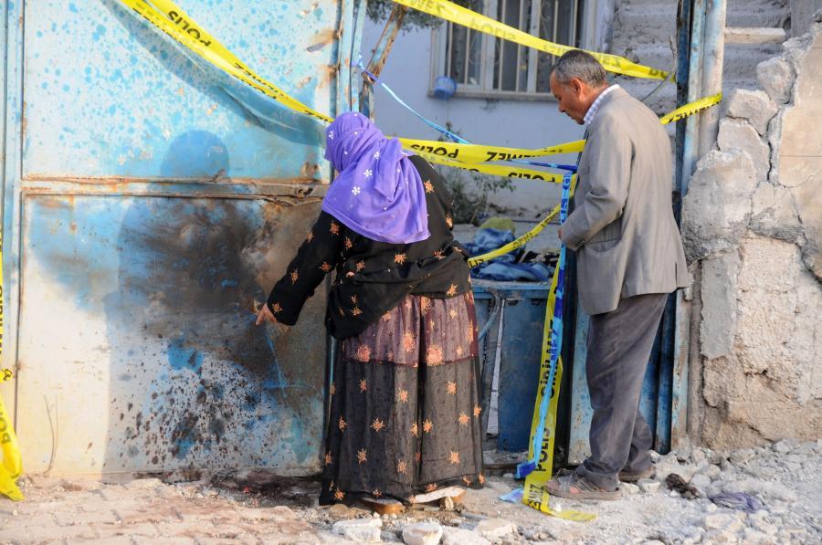 Ostrzelane miasto w Turcji