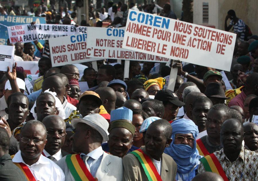 Mali: demonstracja poparcia dla inwazji