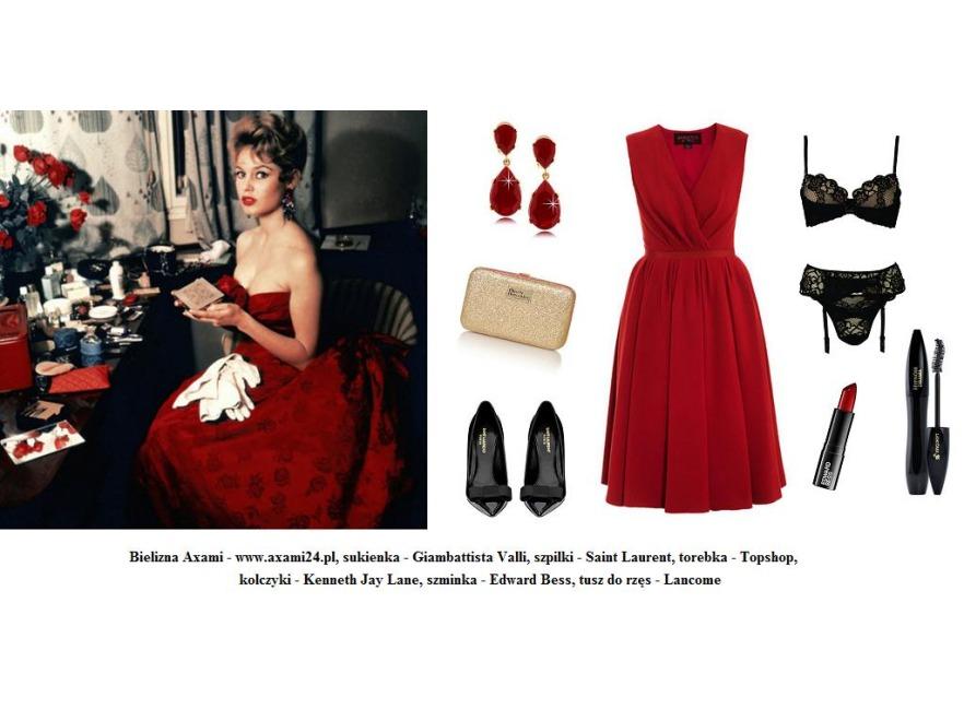 Walentynkowe sylizacje retro - Brigitte Bardot