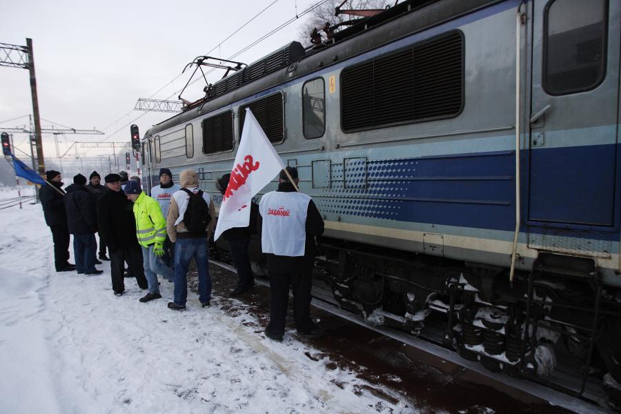 Strajk kolejarzy