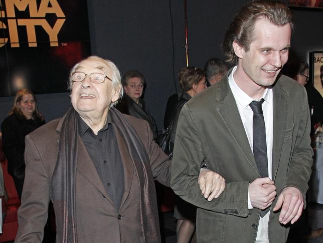 """Andrzej Wajda i Kordian Piwowarski na premierze filmu """"Baczyński"""""""