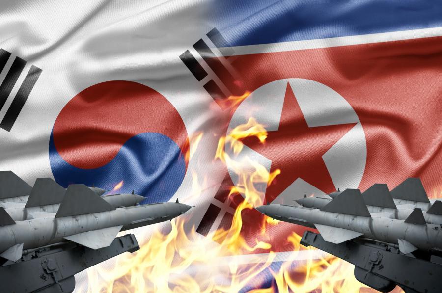 Flagi Korei Południowej i Północnej