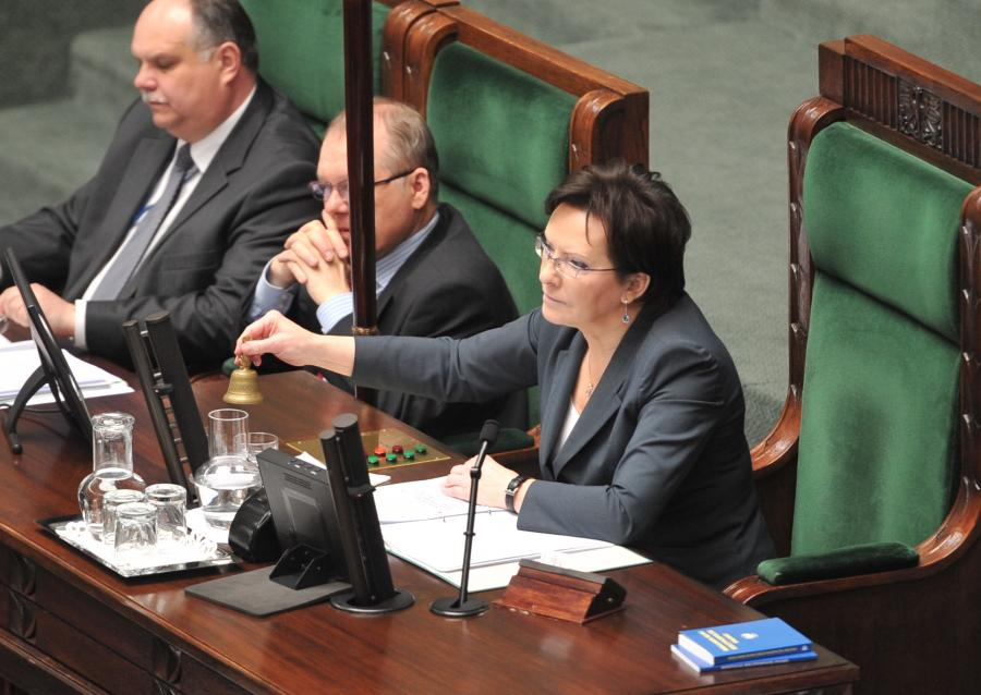 Marszałek Ewa Kopacz w Sejmie