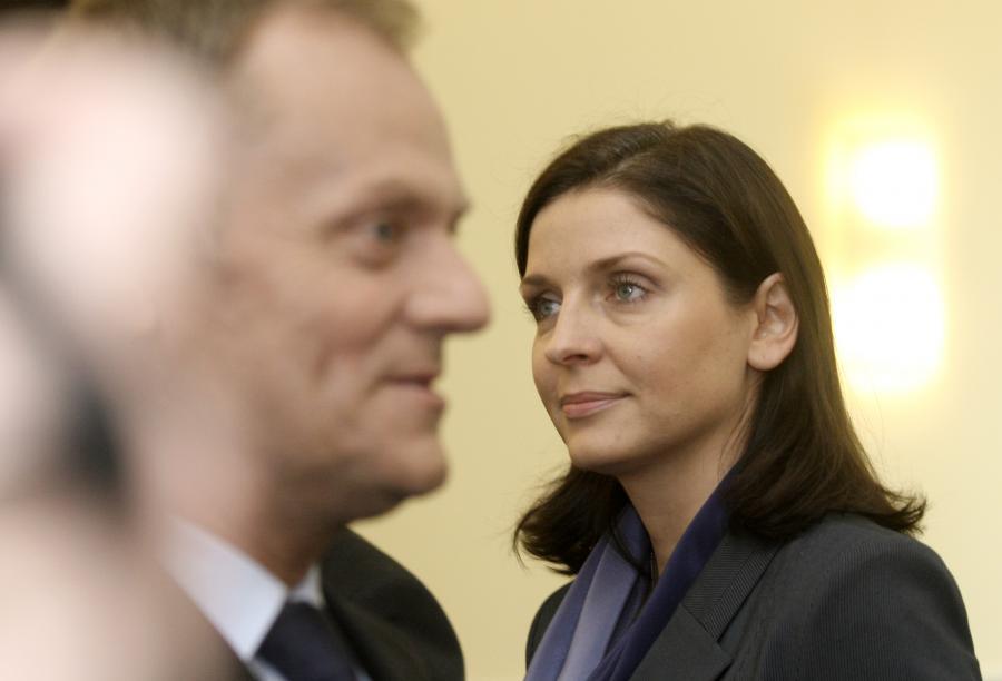 Donald Tusk i Joanna Mucha