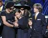 Janet Jackson i dzieci Michaela na jego uroczystościach pogrzebowych