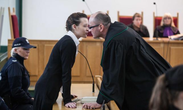 Katarzyna W. i jej obrońca Arkadiusz Ludwiczak