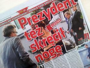 Super Express donosi: prezydent Komorowski skręcił nogę