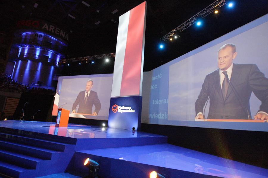 Konwencja PO i premier Donald Tusk