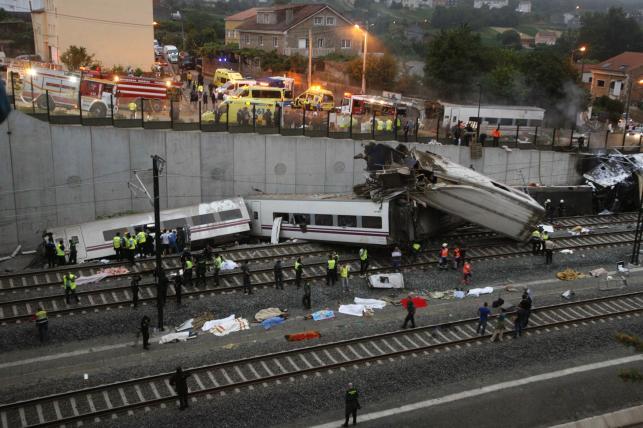 Katastrofa kolejowa w Hiszpanii