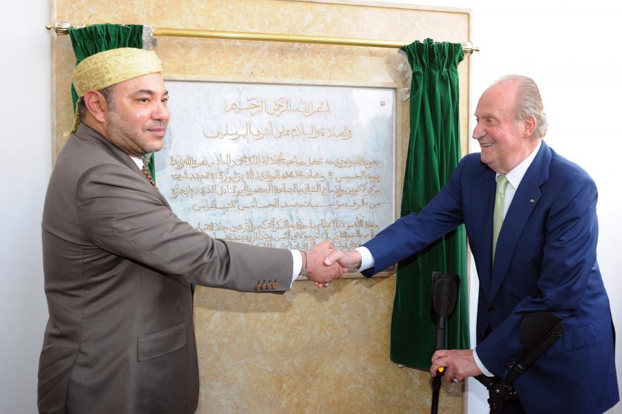 Król Mohammed VI i król Juan Carlos