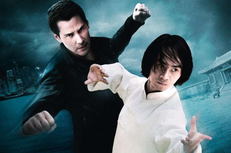 Keanu Reeves i Tiger Chen na plakacie \