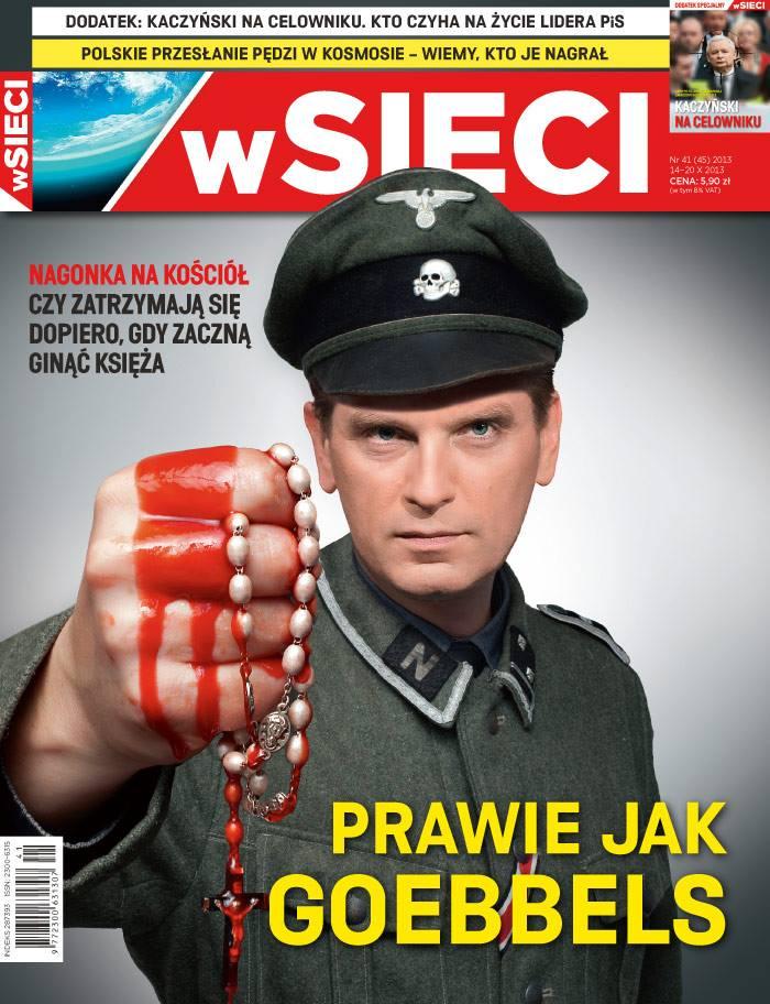 Tomasz Lis jako nazista na okładce tygodnika \