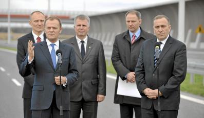 Donald Tusk, Jacek Protasiewicz i Grzegorz Schetyna