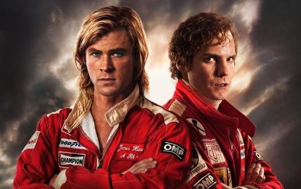 """Chris Hemsworth i Daniel Brühl w filmie """"Wyścig"""""""