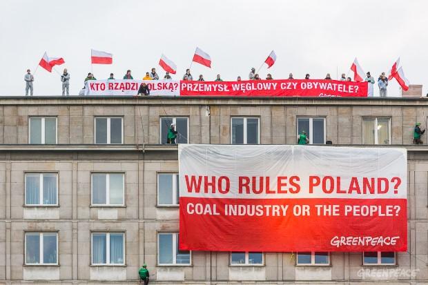 Manifestacja Greenpeace