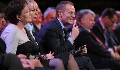 Ewa Kopacz, Elżbieta Bieńkowska i Donald Tusk
