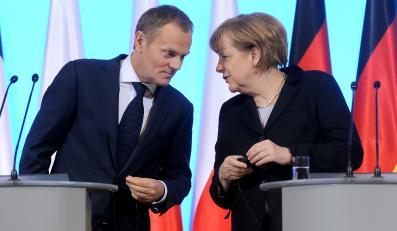 Premier Donald Tusk i kanclerz Angela Merkel