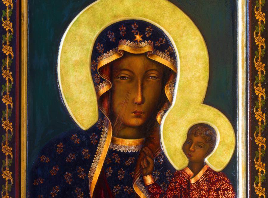 Obraz Matki Boskiej z Dzieciątkiem Jezus (zdjęcie ilustracyjne)