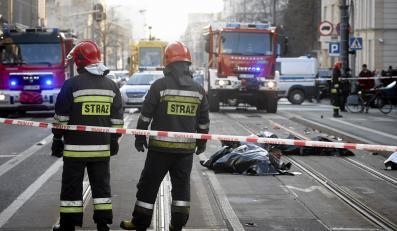 Wypadek w Łodzi - na miejscy zginęły dwie kobiety