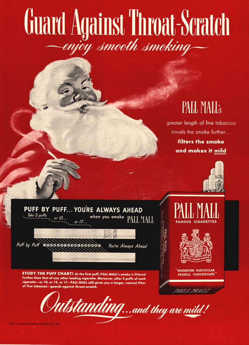 "Papierosy ""Pall Mall"", rok 1952"