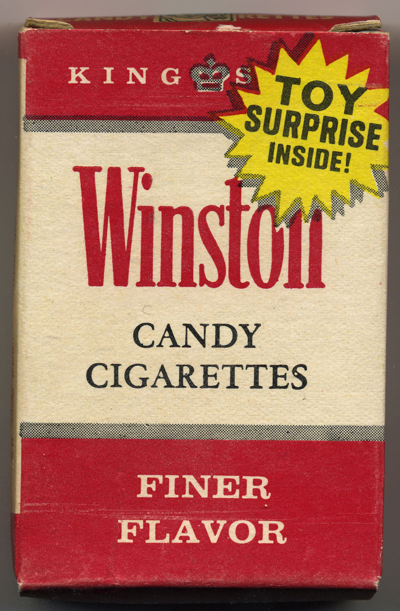 Cukierki dla dzieci w opakowaniach przypominających opakowania papierosów, pod marką producenta papierosów