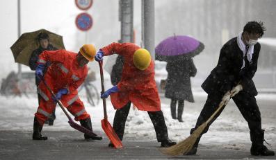 Opady śniegu w Japonii