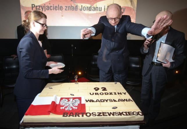 Spotkanie zorganizowane z okazji 92. urodzin prof. Władysława Bartoszewskiego