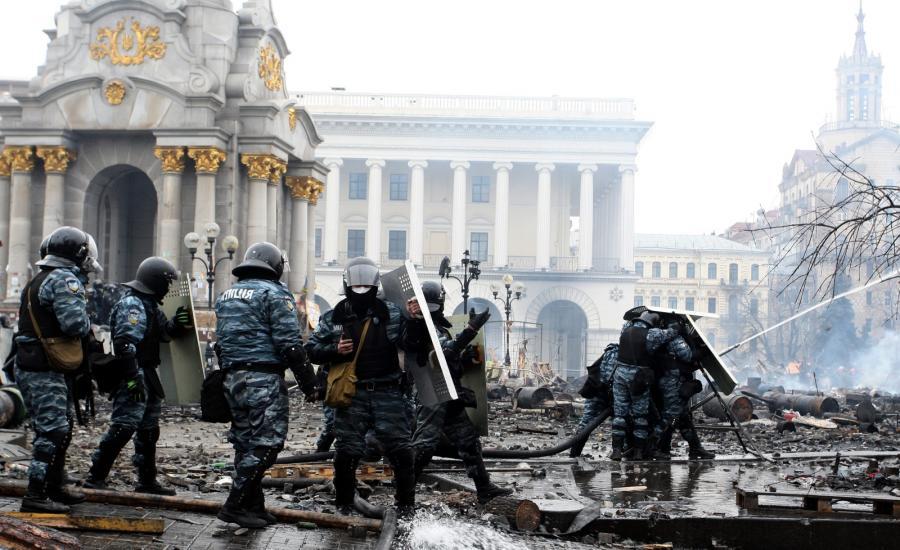 Oddziały Berkutu w Kijowie