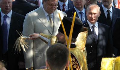 Wiktor Janukowycz i Władimir Putin na Krymie