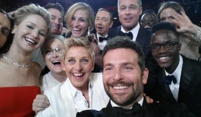 Zdjęcie z gali Oscarów zrobione przez Ellen DeGeneres
