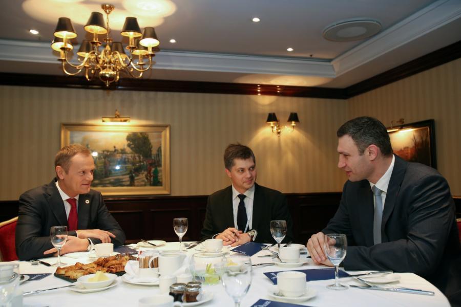 Donald Tusk i Witalij Kliczko